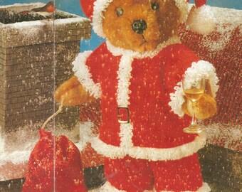 Vintage Teddy Bear/Doll  Santa Outfit Knitting PDF Pattern