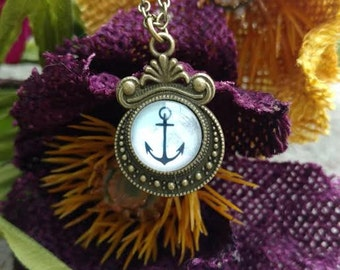 Bronze Nautical Anchor Necklace Dainty Charm Summer Fashion Jewelry ~ Sale Expires Today