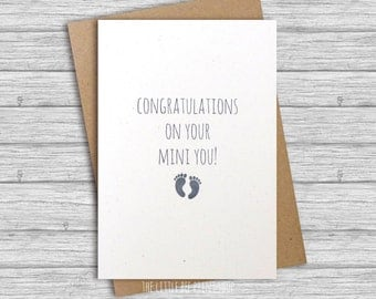 New baby card, Congratulations on your mini you! Greetings Card