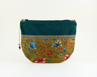 Zipped package, lin, beautiful lace, jewels, makeup pouch storage lining, Kit doubled