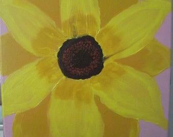 "Acrylic Painting- Original- 14"" x 11"" - Sunflower"