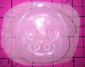 Pig  Emoji - Flexible Plastic Resin Mold