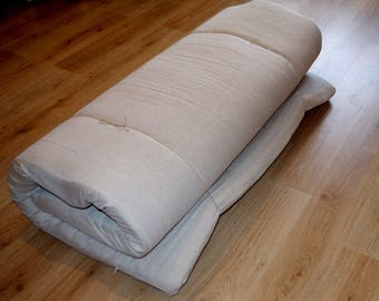 FOR TEY. All Flax filler futon mattress, Linen mattress for adult, Eco mattress,THICKNESS: 5, 8 or 10cm (2, 3 or 4 inches)
