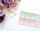 May Faux Glitter Habits Trackers -- Matte Planner Stickers