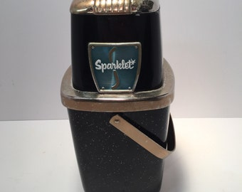 Mid Century Sparklet black and gold glitter ice crusher
