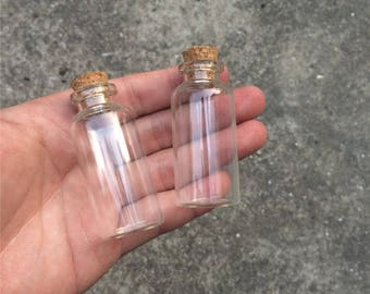 27*58*12.5mm 20ml Glass Bottles With Cork Small Transparent Mini Empty Glass Vials Jars 100pcs/lot