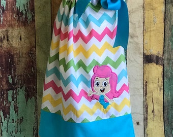 Bubble Guppies Dress-Bubble Guppy Pillowcase Dress- Bubble Guppies Birthday Dress Dress-Girls Bubble Guppies Dress