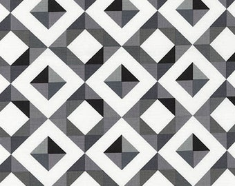 Geo Pop Canvas 2 Diamonds Fabric - Pepper - Sold by the 1/2 Yard