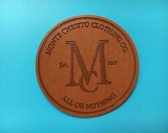 300 Pesonalized leather labels, Custom pu patch leather, Custom PU debossed embossed leather label, Custom leather patches, Faux leather tag