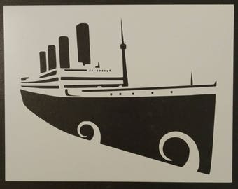 Titanic Ocean Liner Cruise Ship Boat Custom Stencil FAST FREE SHIPPING