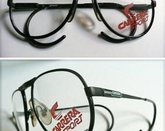 "Vintage eyeglasses ""Carrera Sport Frame Austria"" made in 80th."