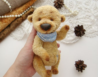 Teddy bear Handmade Stuffed animal Toy bear Artist teddy bear Little teddy bear Art Ooak 7 Inches Free shipping