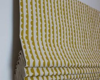 Yellow Roman Blind |  Roman Shade | Handmade roman shade | custom roman shade | Linen roman shade