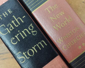 The New World, The Gathering Storm by Winston S. Churchill, Hardcover Books