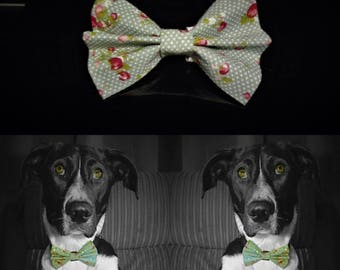 Waterflower Dog Bow Tie - Green