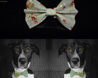 Waterflower Dog Bow Tie - Green