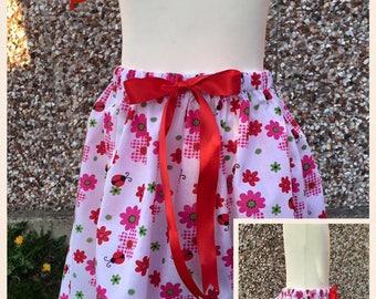 Bespoke Handmade Girls Skirt 0-12 m 1-6 years. Tea,Day Skirt Or Party Skirt. White floral butterfly skirt