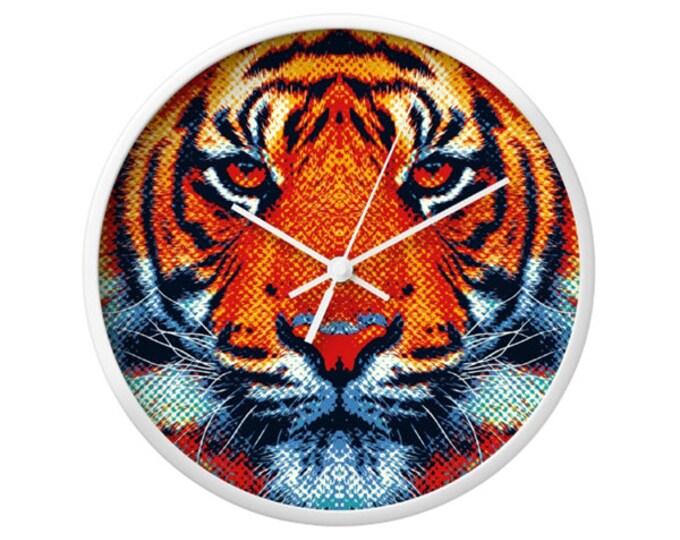 Tiger Wall Clock - Colorful Animals