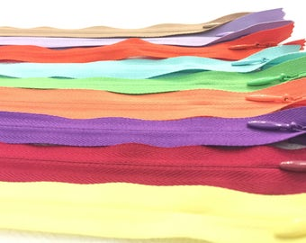 Invisible Zippers 7 Inches Assorted Colors