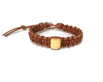 Children's Oils Bracelet - Kids Oils Bracelet - Leather Kids Bracelet - Child Diffuser Bracelet - Wood Bead Bracelet - Aromatherapy Bracelet