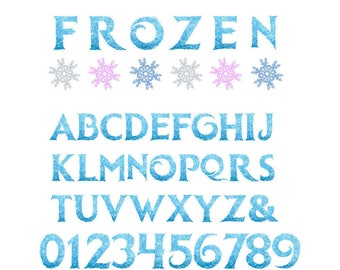5'' Frozen Alphabet Clipart Printable Frozen Letters & Numbers Frozen Party Invitations Scrapbooking Invitations Graphic INSTANT DOWNLOAD
