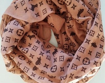 Frenchie Scarf, French Bulldog, Couture Inspired Scarf, French Bulldog Clothing, Frenchie Clothing, Gift Ideas For Her