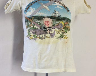 Vtg 1977 Emerson Lake And Palmer Concert T-Shirt XS/S 70s Classic Rock Band