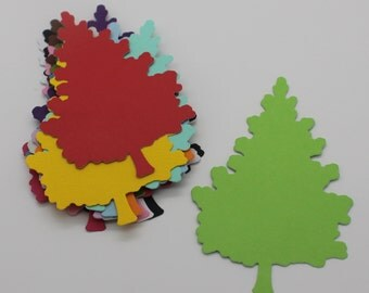 Christmas tree: set of die - cut cut-outs