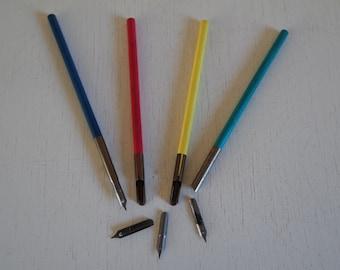 Vintage 60s french pupil wooden penholder