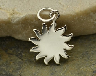 Sterling Silver, Sun Charm, Silver Sun Charm, Sun Jewelry, Silver Sun Jewelry, Astrological Charm, Astrological Jewelry, Sunshine Charm