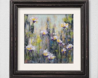 "Original Pastel Painting ""Flower Field"" Abstract Painting"