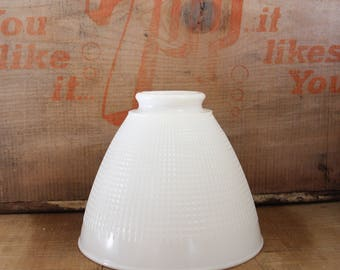 milk glass shade, vintage milk glass lamp shade, lamp shade, torchiere lamp shade
