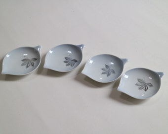 Scandinavian porcelain: small plates in special shape