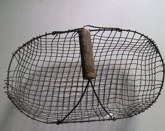 vintage metal basket for magazines
