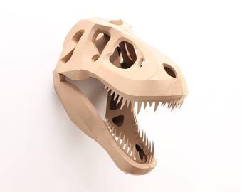 Tyrannosaurus Rex trophy printable building kit