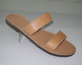 Natural  double leather sandal