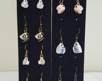 Tea Cup Earrings - Tea Earrings - Cup Earrings - Doll House Earrings - Tea Jewelry - Tea Cup Jewelry - Tea Cup - Tea Cups - Mini Tea Cup