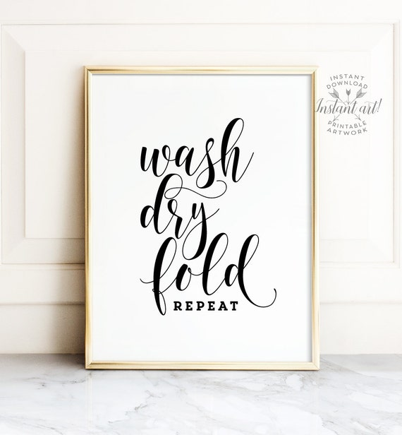 Laundry Room Decor Printables
