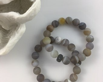 Agate Verigated Bracelet