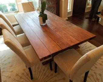 Thick Plank Rustic Dining Table
