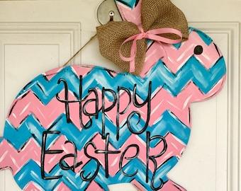 Easter Door Hanger, Bunny Door Hanger, Spring Door Hanger, Easter Decor
