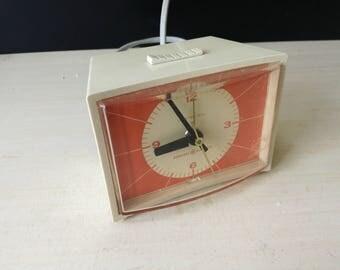 General Electric orange alarm clock