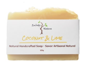 Coconut Milk and Lime Soap, All Natural Soap, Lime Soap, Coconut Soap, Cold process soap