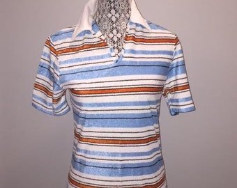 Vintage Stripped Polo / size medium / by Rite Smart