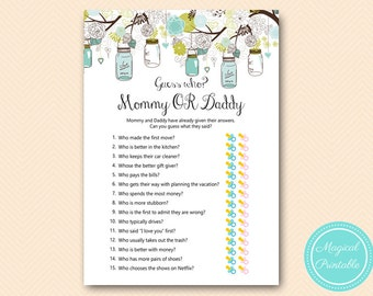 or daddy game guess who baby shower game printable baby shower games
