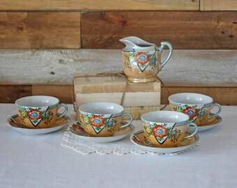 Vintage Teacup,  Saucer and Cream  - Japan teacup set