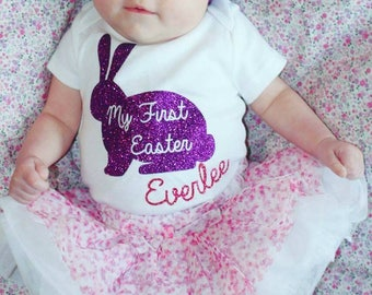 My first Easter bodysuit, first Easter shirt, girls Easter shirt, girls first Easter bodysuit, baby first Easter bodysuit, custom Easter