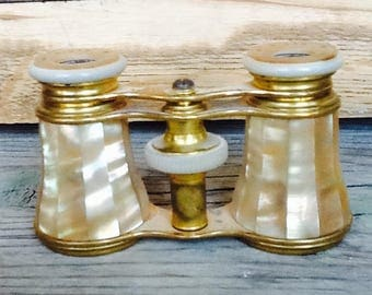 Antique opera glasses, mother of pearl, Paris