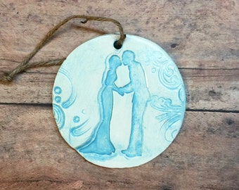 Bride & Groom  Christmas Ornament