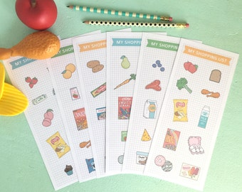Pretend Play SHOPPING LISTS Printable- Instant PDF Download- grocery shopping, market, imaginative play, play house, pretend food